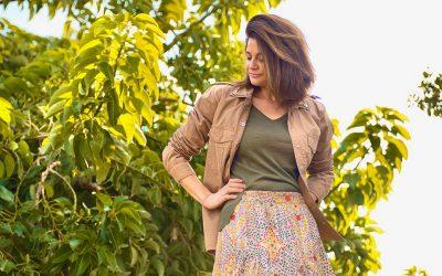 Nueva temporada, flores y falda larga